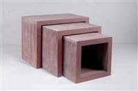 satztische easy edges (set of 3) by frank gehry