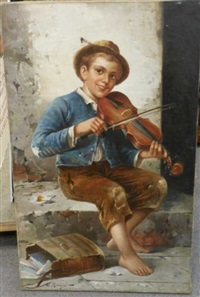 street musician by adolf raufer