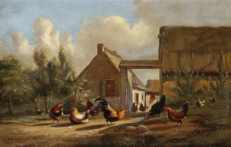 hühnerhof another 2 works by johan lodewijk van leemputten