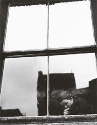 untitled (figure at a window) by leon levinstein