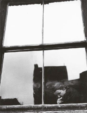 untitled figure at a window by leon levinstein