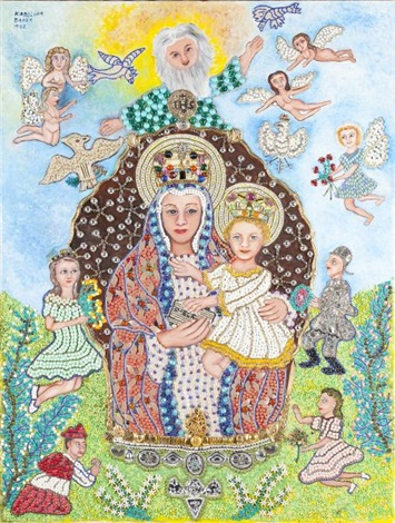 folk art jeweled icon by karolina danek