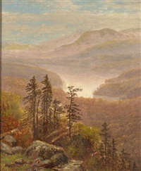 white mountain view by john william casilear