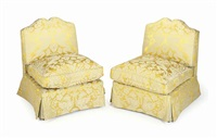 slipper chairs (pair) by de angelis