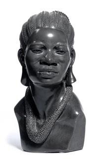 buste de femme africaine by noel fombe
