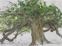 the old chestnut tree at forenaught stud by patricia jorgensen
