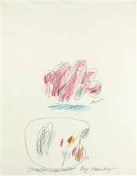 untitled (modella) by cy twombly