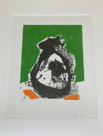 untitled b from the basque suite by robert motherwell