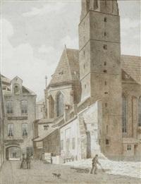 münchen - blick auf die salvatorkirche by ludwig huber