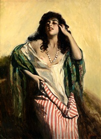 retrato de muchacha by george owen wynne apperley