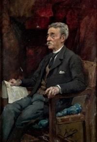 retrato de caballero by eugenio oliva rodrigo