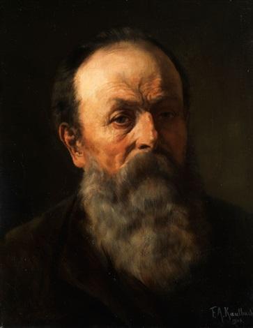 bärtiger mann by friedrich august von kaulbach