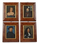 four portraits of historical figures including sir william stanley kg (c.1435-1495) (+ 3 others; 4 works) by george perfect harding