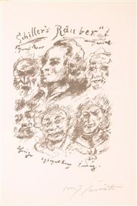 friedrich von schiller, die räuber (bk w/12 works) by lovis corinth