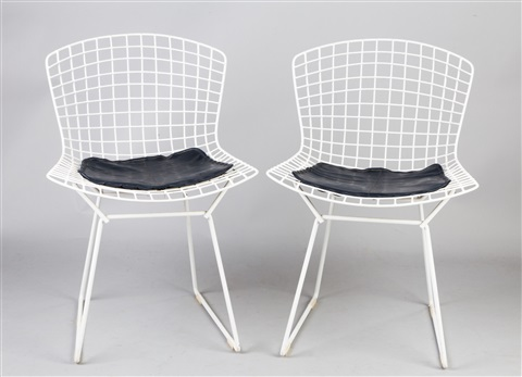 two vintage harry bertoia wire side chairs by harry bertoia & Two Vintage Harry Bertoia Wire Side Chairs by Harry Bertoia on artnet