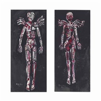 The Flayed Angels (diptych), 1961