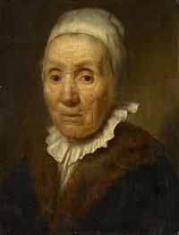 rembrandt-schule. bildnis einer alten frau by paulus lesire