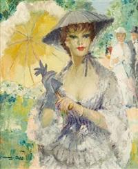 jeune femme à l'ombrelle by marguerite aers