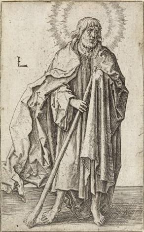 judas thaddaeus from christus paulus und die zwölf apostel by lucas van leyden