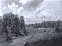 kesäinen maantie - sommrig landsväg by edouard alexandre alexis ankarcrona