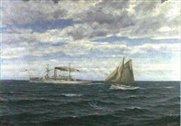 the norwegian coastal defence vessel tordenskjold by zackarais martin aagaard