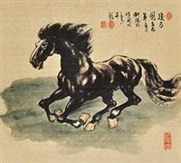 骏马图 by liu yuanming