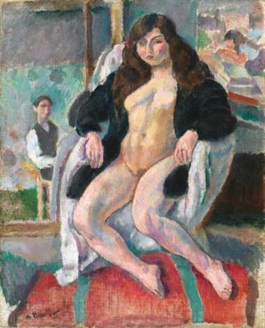 le peintre et son modèle by jules pascin