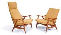 armchairs and coffee table (3) by illum wikkelsø