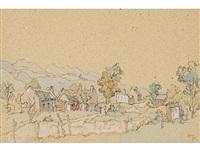labourers cottages, suurbraak c.p by gregoire johannes boonzaier