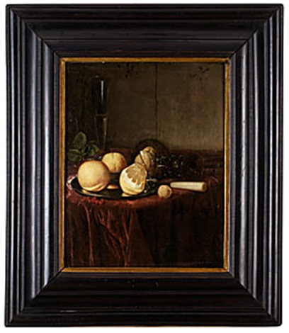 stilleben med glas och citrusfrukter by simon luttichuys