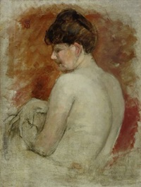 donna di spalle by telemaco signorini