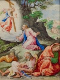 le christ au mont des oliviers by giulio clovio