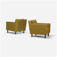 lounge chairs (pair) by edward wormley