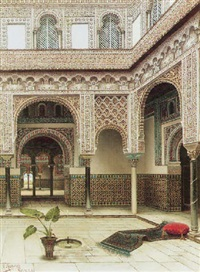 the courtyard of a moorish palace by tomas aceves