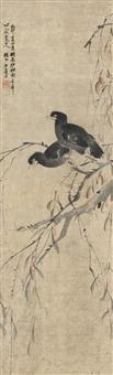 柳禽图 (willow and birds) by lian xi