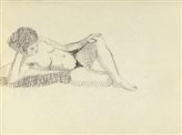 weibliche akte, liegend (2 works) by heinrich kirchner