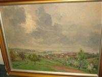 vast landscape with storm clouds by karl friedrich lippmann