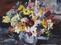mixed flowers by gerhard batha