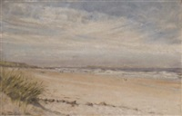 bamburgh sands, northumberland by sigismund christian hubert goetze