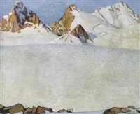montagnes enneigées by theodor pasche
