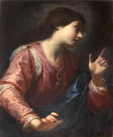 angelo annunciante vergine annunciata pair by simone pignoni