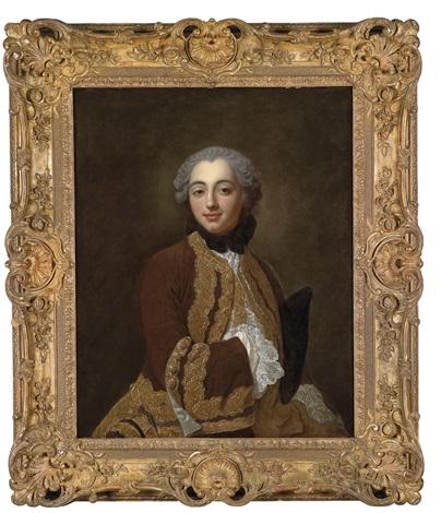 ein junger kavalier in braunem rock mit reichen goldtressen by jean baptiste van loo