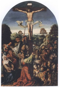 the crucifixion by master of frankfurt