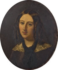a portrait of the honorable philippa eliza sidney smythe (+ portrait of percy ellen frederick william smythe; pair) by william charles fisher