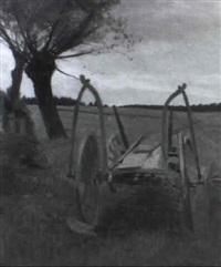 bauernwagen in landschaft by emanuel baschny