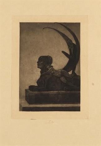 le sphinx grande planche pl1 from les diaboliques by félicien joseph victor rops
