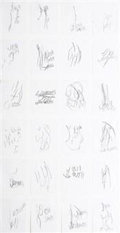 summer sketches no.2 (24 works on 1 sheet) by joshua smith