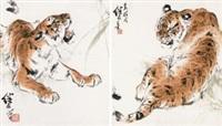 回首图 (二帧) (2 works) by liu jiyou