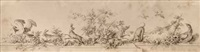 a ledge decoration with animals and fauna by johann esaias nilson