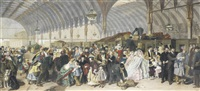 the railway station by francis montague (frank) holl